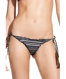 Two tone striped scrunch Brazilian bottom with side ties - CALCINHA LANAI B RIPPLE TRI