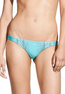 Braguita bikini fija estampa piel de serpient - CALCINHA TAMAN GREEN