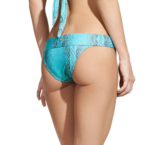 Luxurious snakeskin print bikini bottom - CALCINHA TAMAN MIDDLE CARMEL