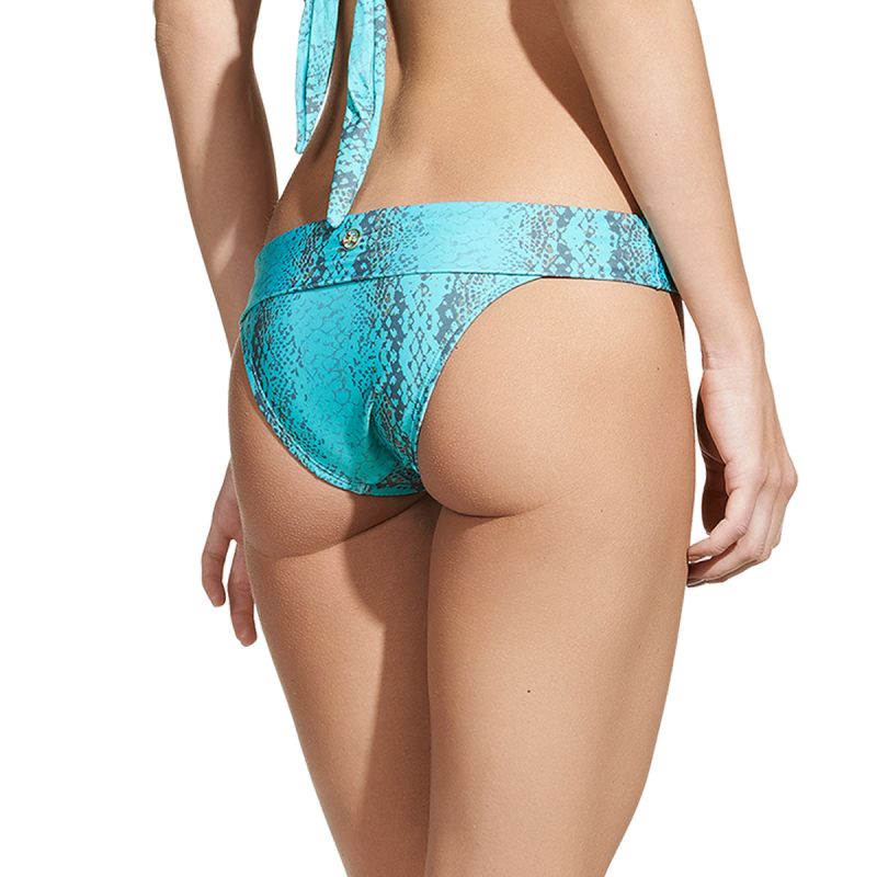 Luxurious snakeskin print bikini bottom - CALCINHA TAMAN MIDDLE CARMEL