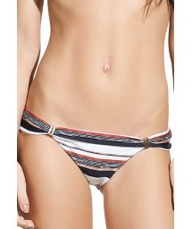 Striped fixed side Brazilian bikini bottom - CALCINHA THAI BIA TUBE