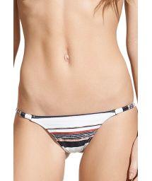 Luxurious striped thin side Brazilian bikini bottom - CALCINHA THAI MARY BASIC