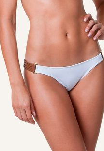 CALCINHA WHITE DETAIL LEATHER