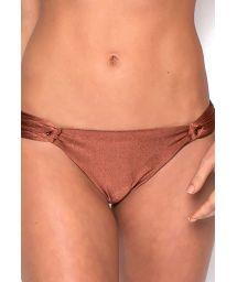 Luxurious iridescent brown bikini bottom - BOTTOM VERONICA BRONZE