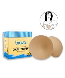 Mousses amovibles cache-mamelons forme ronde - BRAVO DOUBLE SHAPER NUDE