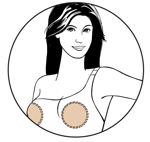 Round soft triangle bikini bra inserts - BRAVO DOUBLE SHAPER NUDE