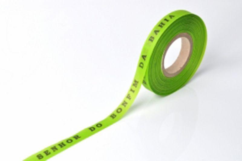 Lime-greenBrazilian roll of ribbon - ROLLER BONFIM - LIMAO