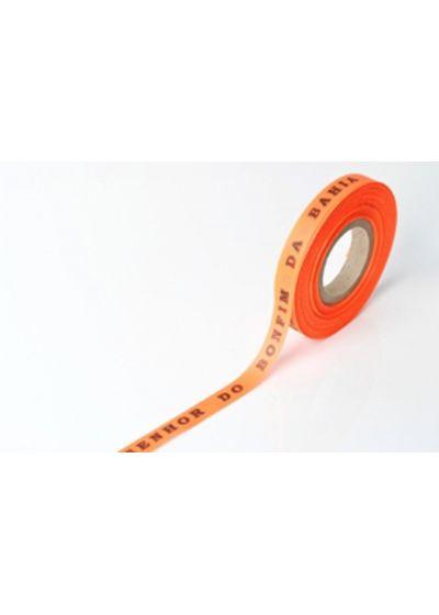 Рулон бразильской ленты флуоресцентного оранжевого цвета - ROLLER BONFIM - NEON