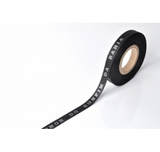 Black Brazilian roll of ribbon - ROLLER BONFIM - PRETO