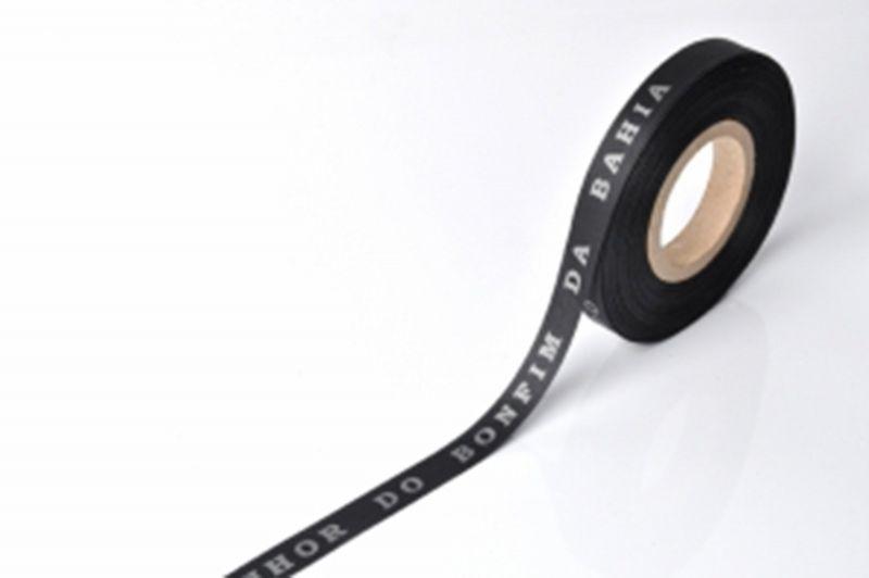 BlackBrazilian roll of ribbon- ROLLER BONFIM - PRETO