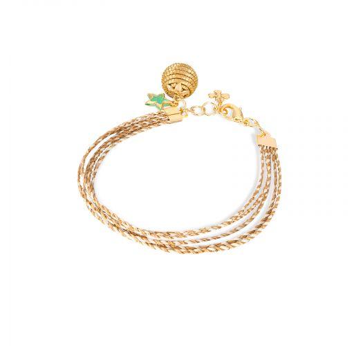 Capim dourado twisted multi-link bracelet - CONSTELAÇAO