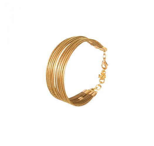 Capim dourado gold-plated multi row bracelet - FIOS DOURADOS