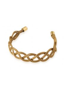 Handmade braided golden grass bracelet - LAMAZA