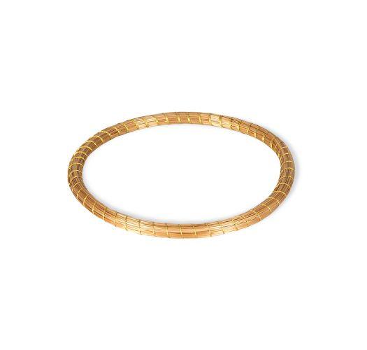 Capim dourado handmade bangle - SATURNO DOURADO