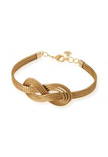 Handmade golden grass bracelet with infinity symbol - TALLY
