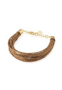 Multi-strand golden grass bracelet - YOUNA