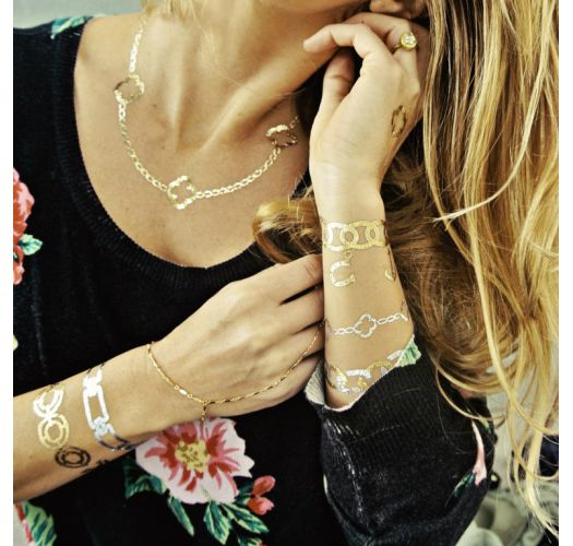 Временни татуировки - златни и сребърни бижута - CHLOE