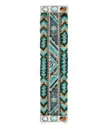 Blue beaded bracelet, clasp with stones - HIPANEMA CARMEN