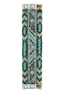 Blue beaded bracelet, clasp with stones - HIPANEMA CARMEN
