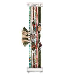 Bead and thread bracelet with khaki tassels - HIPANEMA HELENA