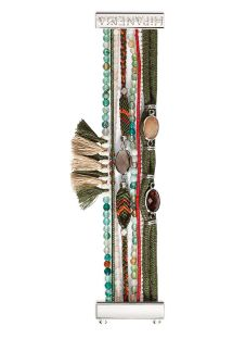 Bead and thread bracelet with khaki tassels - HIPANEMA HELENA