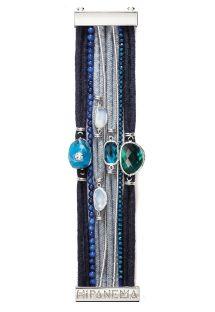 Bracelet en cordes gris/noir, perles, pierres - HIPANEMA ABYSS