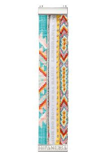 Multicoloured bead bracelet with Brazilian ribbon - HIPANEMA ACAPULCO