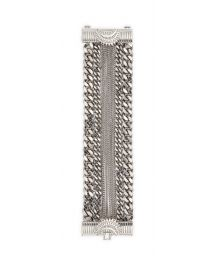 Silver chain cuff with jewelled clasp - HIPANEMA AGYNESS SILVER