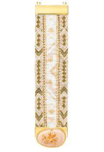 Bracciale dorato con perline e pietra sulla chiusura - HIPANEMA ALIZEE