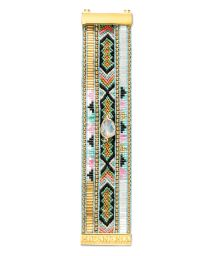 Colourful bracelet with beads, woven threads, crystal - HIPANEMA AMY TWIN