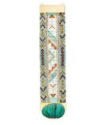 Beaded bracelet, clasp adorned with a blue stone - HIPANEMA ANTONELLA