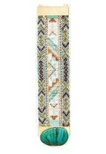 Bracelet en perles, fermoir orné pierre bleue - HIPANEMA ANTONELLA