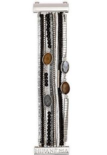 Black/silver bead and stone cuff - HIPANEMA ARPEGE