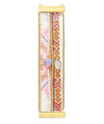 Colourful bracelet featuring beads, threads and crystals - HIPANEMA CAMELIA