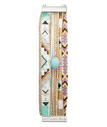 Multicoloured bracelet with blue crystal - HIPANEMA CARDAMINE