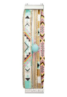 Multicoloured bracelet with blue crystal - HIPANEMA CARDAMINE