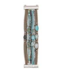 Bracelet with blue cord laces, beads and stones - HIPANEMA DJINN