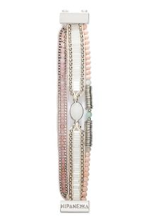 Small bracelet in white/pink beads and crystal - HIPANEMA ELSA MINI