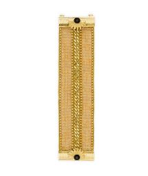 Gold chain/beaded cuff with jewelled clasp - HIPANEMA GALATE GOLD