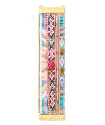 Multicoloured bracelet with pink stone - HIPANEMA HORTENSE