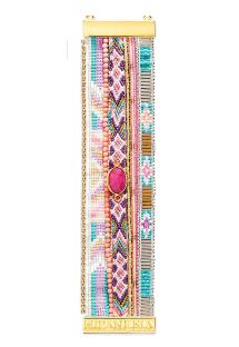 Multicoloured bracelet with pink stone - HIPANEMA HORTENSE
