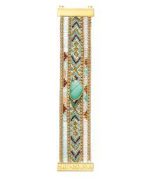 Bead and thread bracelet withturquoise stone - HIPANEMA JAYA TWIN