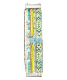 Blue/yellow bracelet with beads and crystals - HIPANEMA JONQUILLE