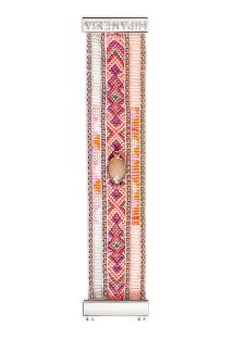 Pink bracelet with beads, woven threads, crystal HIPANEMA JUDY TWIN