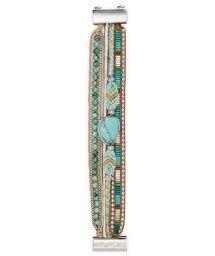 Light blue/silver multi-band pearl bracelet - HIPANEMA LAGON MINI