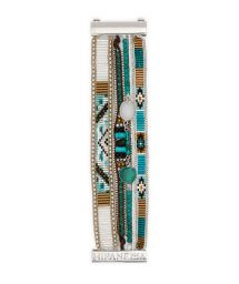 Bracelet with stones and turquoise/silver-coloured beads - HIPANEMA LAGUNE