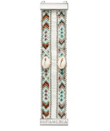 Bracelet with silver beads and shells - HIPANEMA MONA TWIN
