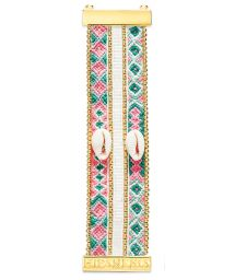 Colourful bead and thread bracelet with shells - HIPANEMA NORMA TWIN