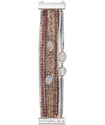 Multi-row cuff bracelet with beads and stones - HIPANEMA ONDEE