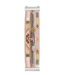 Cuff in powder pink stones and beads - HIPANEMA PETALE